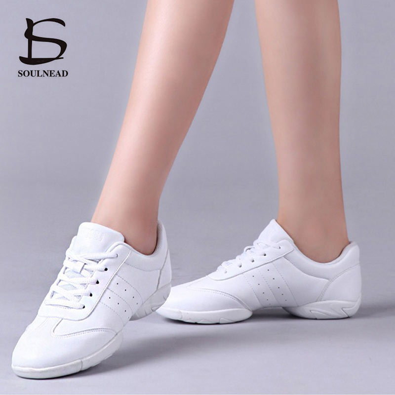 Aerobics Dance Shoes For Girls White Professional Training Gym Sports Shoes Lightweight Fitness Shoe