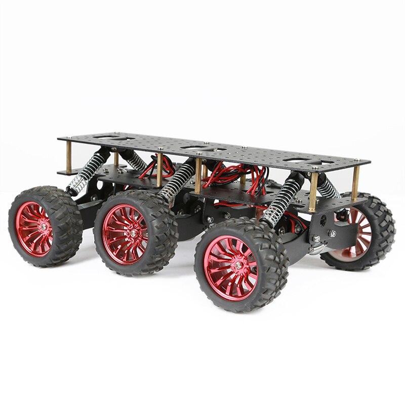 6WD Поисково-спасательная платформа смарт-шасси автомобиля шок внедорожный скалолазание для Arduino Raspberry Pie WIFI система
