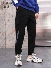 SEMIR, pantalones ulzzang para hombre, monos nuevos de invierno, marca de marea, pantalones casuales con múltiples bolsillos, pantalones de hip-hop para hombre