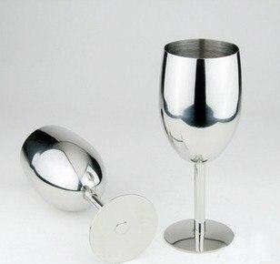 304 كأس نبيذ أحمر من الفولاذ المقاوم للصدأ ، كأس طويل إبداعي ، كوب نبيذ ، أكواب شرب 17 سنتيمتر