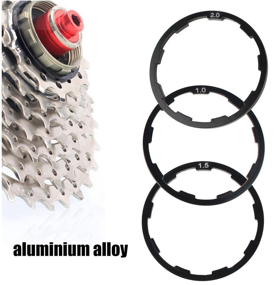 3 Pcs 1mm+1.5mm+2mm Bicycle Hub Spacers Flywheel Gasket Bottom Bracket Washer Cassette Aluminium Alloy Road Bike Washer