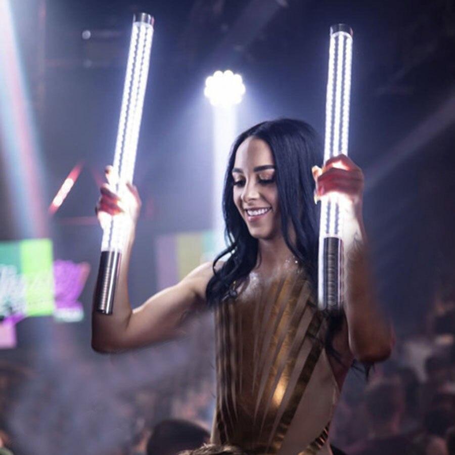 60CM Lengthened Bar Flashing Stick With Green Laser Light LED Champagne Flash Stick Strobe Baton For Nightclub Dance Stick KTV enlarge