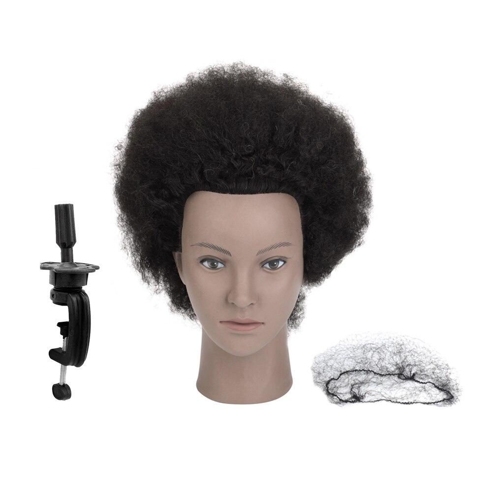 Afro Mannequin Head Training Head Salon  Dummy Doll Hairdressing 100% Real Human Hair Manikin Head Braiding Practice head head supershape i rally sw mfpr prd 12 gw brake 85 [f] 18 19 размер 177