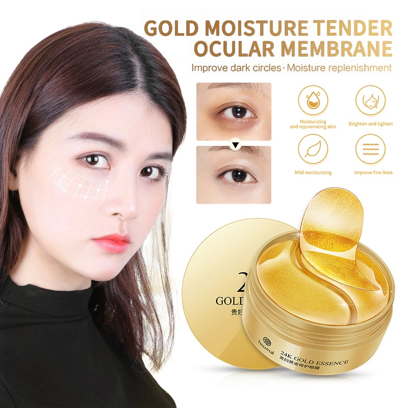 60pcs Eye Mask Patch Gold Deep Nourishment Seaweed Crystal Collagen Anti-Wrinkle Anti Aging Remove D