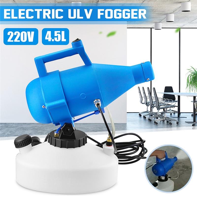 110/220V électrique ULV brumisateur ULV Ultra faible capacité Machine de brumisation froide 1400W Portable électrique Machine de désinfection par pulvérisation 4.5L
