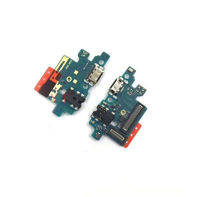 Плата зарядного устройства для Samsung Galaxy A40 A405F док-разъем с гнездом гибкий кабель запасные части