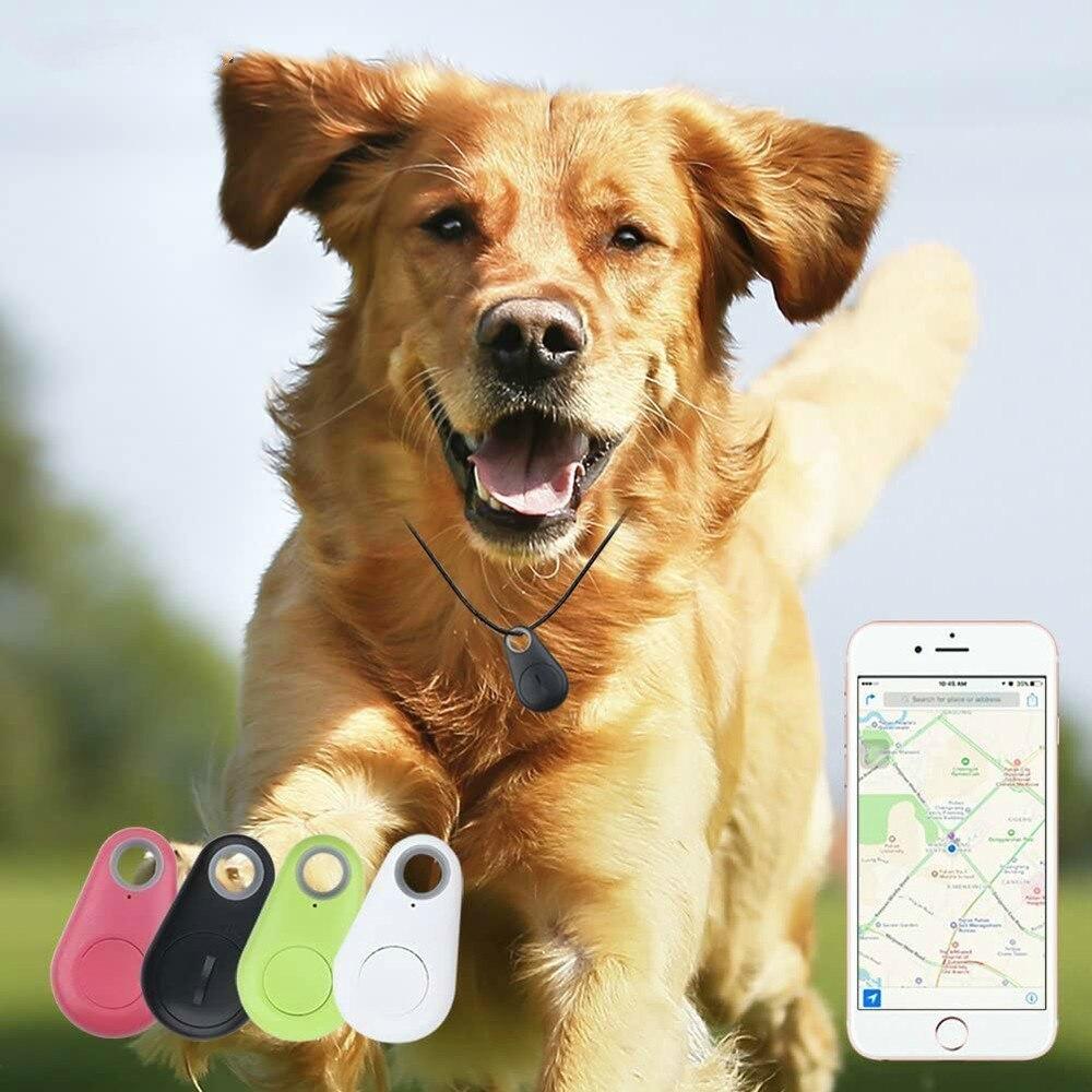 GPS-трекер для домашних животных, водонепроницаемый чехол-кошелек для кошек и собак, с поддержкой Bluetooth, без аккумулятора