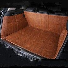 Wood Grain Full Surround Waterproof Carpets Boot Custom Car Trunk Mats for Kia Carnival Shuma K2 Sportage Carens Sorento K9 Soul