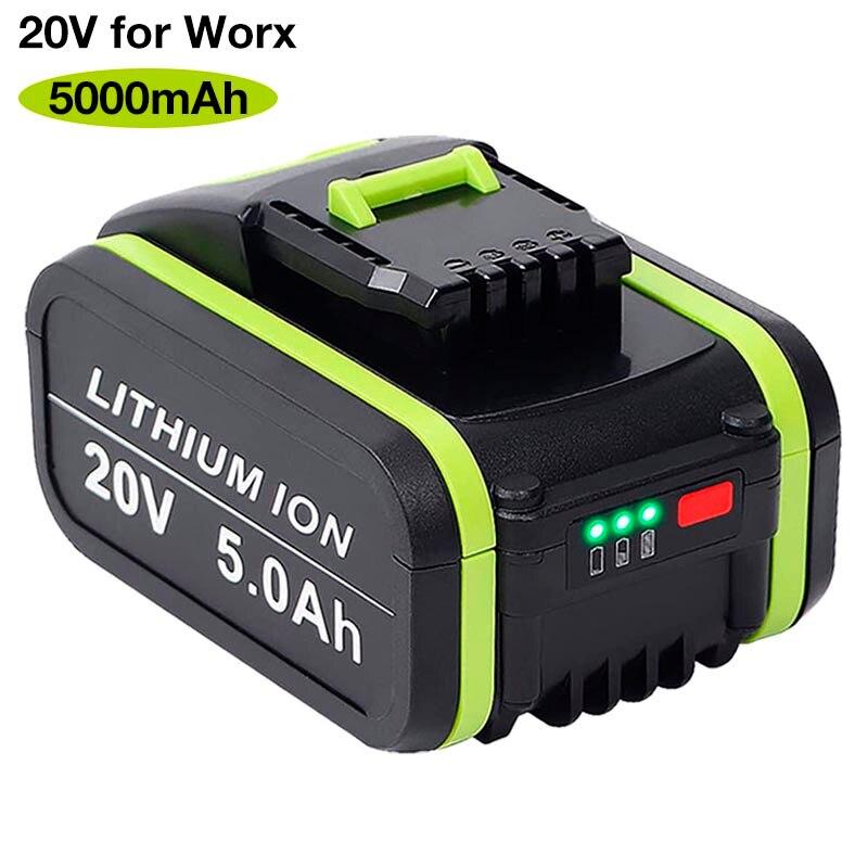 WA3553 20V 5000mAh ليثيوم أيون قابلة للشحن استبدال البطارية ل وركس الطاقة أداة WA3551 WX390 WX176 WX178 WX550 WX386 WX678 WG894E