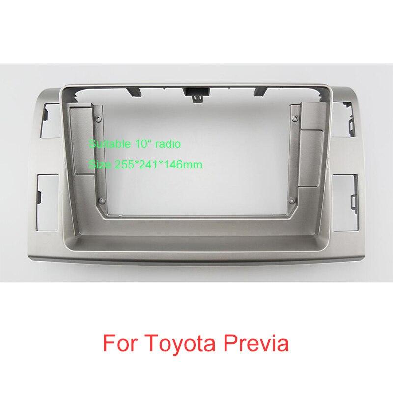"FEELDO Car Audio 2Din Fascia Frame Adapter For Toyota Previa 10"" Big Screen Audio Dash Panel Frame Fitting Kit"