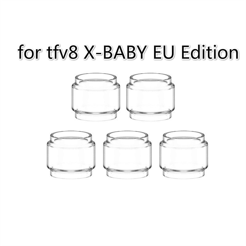 5pcs YUHETEC Replacement Fat Glass Tank for SMOK tfv8 X-BABY/stick X8 bubble glass Fatboy Tube  2ml EU Edition enlarge