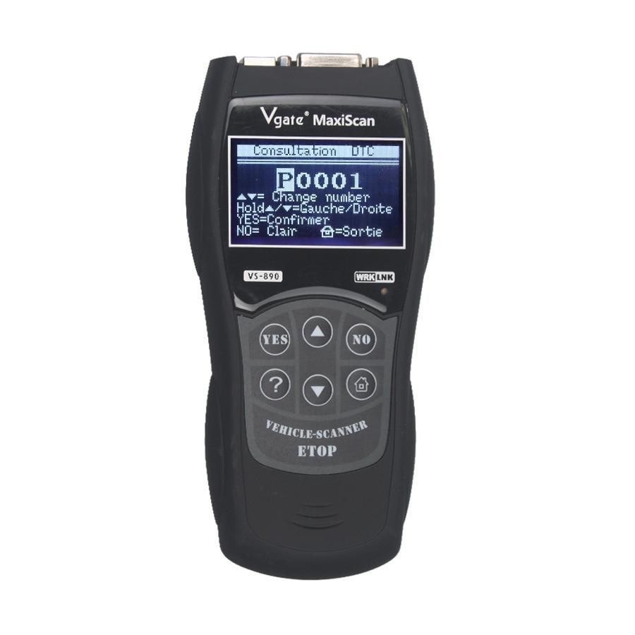 Vgate vs890 skaner OBD wielojęzyczny detektor samochodów samochodowy czytnik kodów