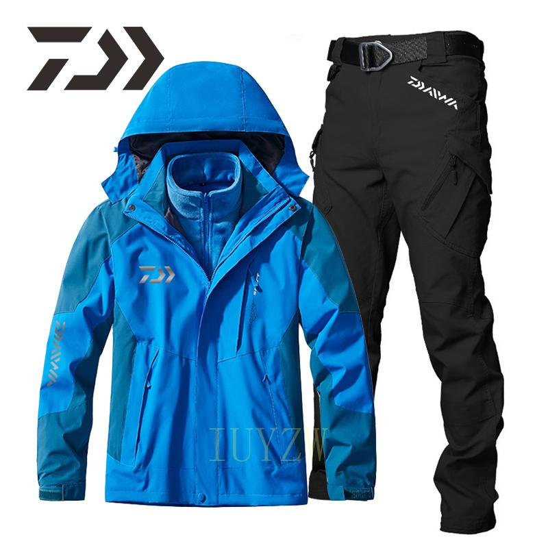Daiwa Fishing Clothing Men's Tracksuit Waterproof Suit for Fishing Clothes Detachable Two-Piece Set Thermal Winter Fishing Suit enlarge