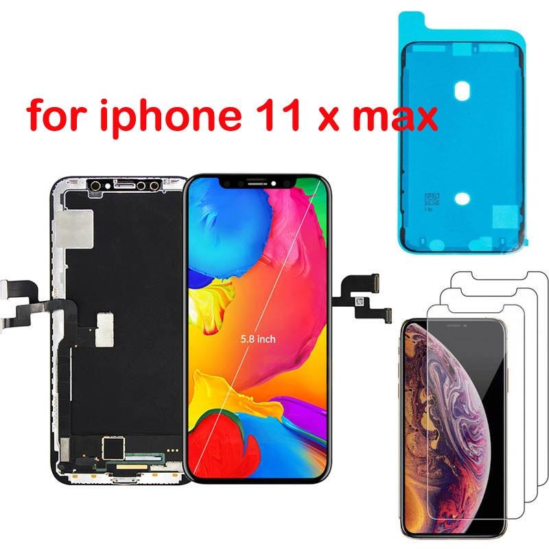 Reemplazo de pantalla AAA + + sin píxeles muertos para iPhone 11 X OLED con digitalizador táctil 3D pantalla LCD para iPhone Xs max LCD con regalo
