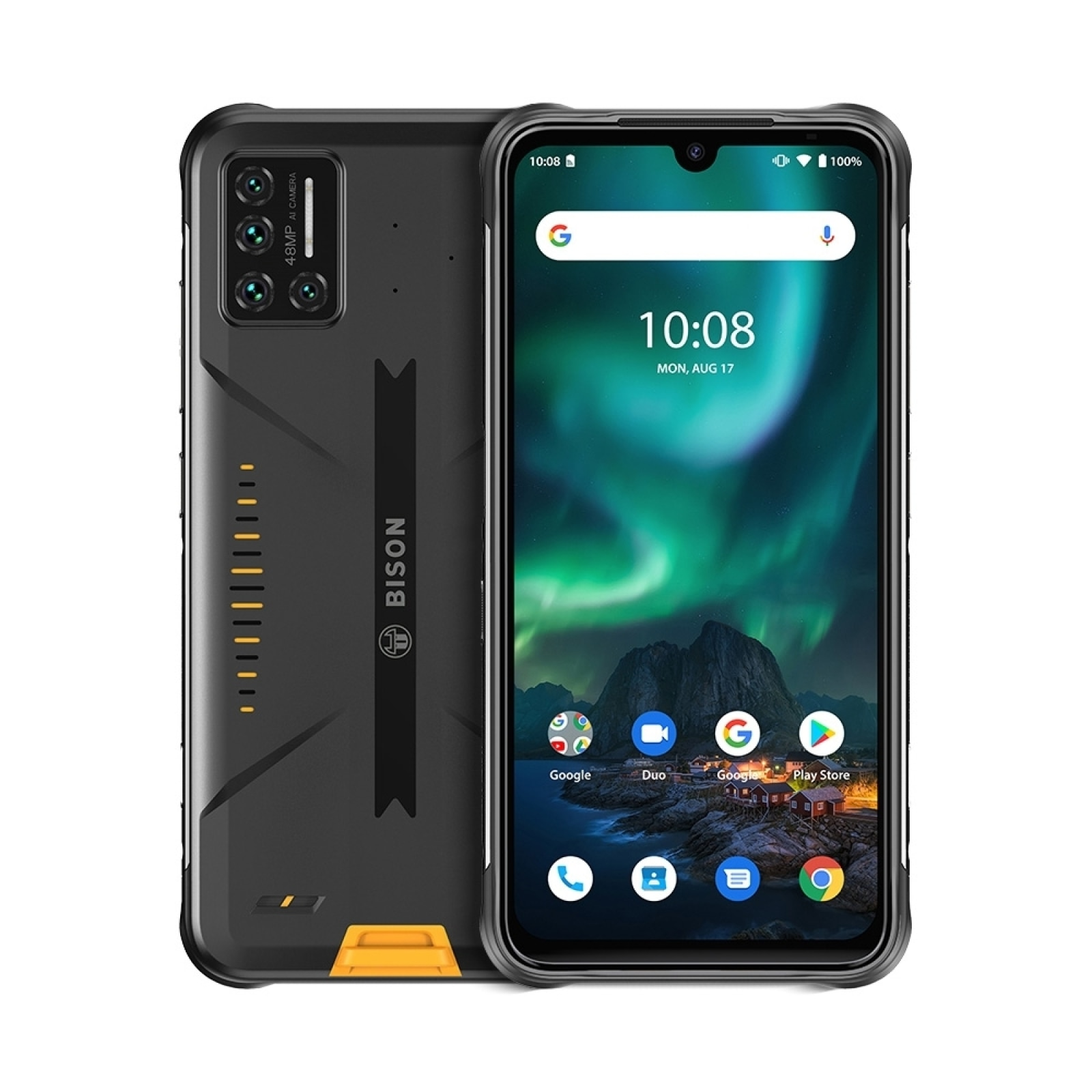 Смартфон UMIDIGI BISON 8 ГБ + 128 ГБ, водонепроницаемый, IP68/IP69K, 48 МП матрица, четыре камеры, экран 6,3 дюйма FHD +, NFC, Android 11