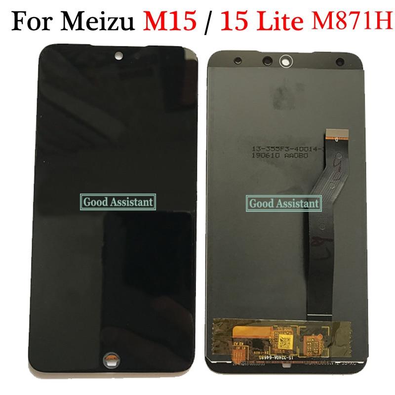 Original negro 5,46 pulgadas para Mei zu 15 Lite / M15 / M871Q / M871H pantalla LCD MONTAJE DE digitalizador con pantalla táctil reemplazo