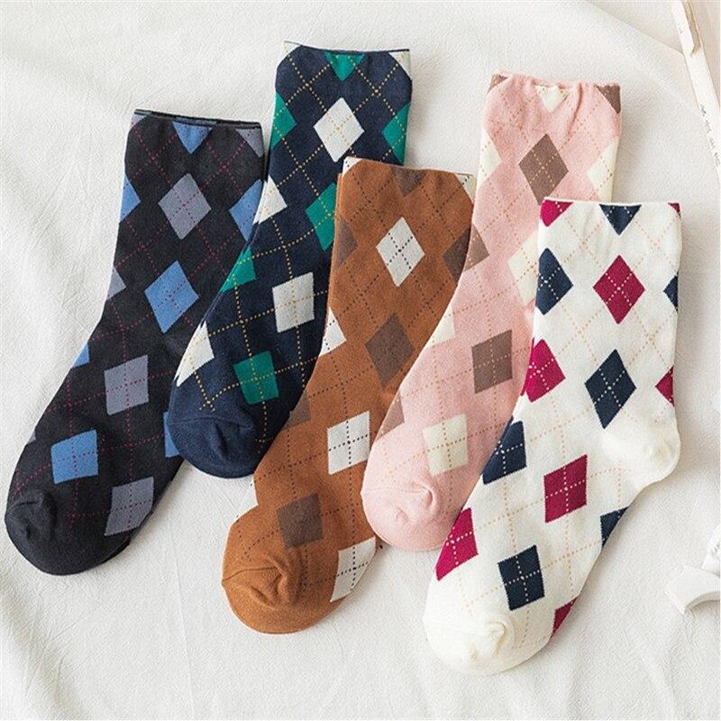 Chaussettes en coton à mailles pour femmes, Style Preppy, décontracté, déodorant, collection automne 2020