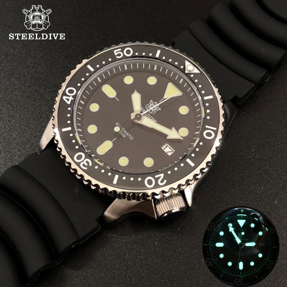 STEELDIVE 1996 Japón skx007 pequeño abulón 316L de acero inoxidable reloj de buceo 200m mecánica bisel de cerámica relojes de buceo para hombre 2020