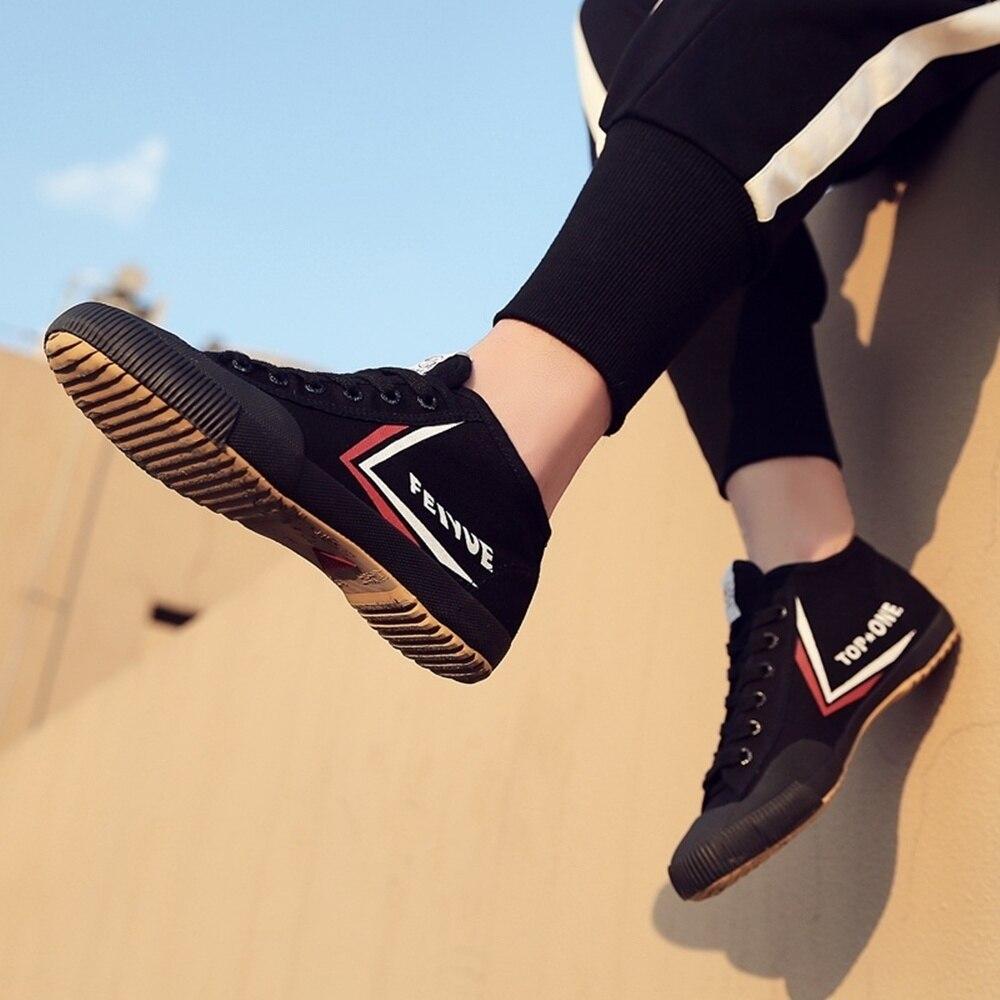 Обувь FEIYUE Kungfu shaolin, парусиновые черные ботинки для боевых искусств, улучшенная версия классических ботинок