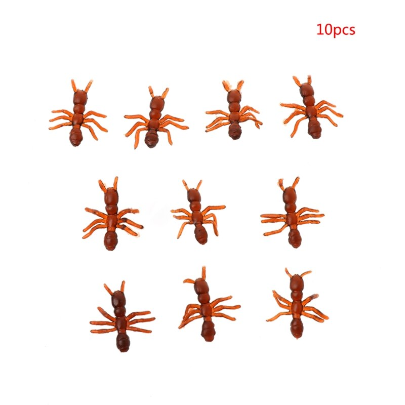 Suministros de Halloween Día de los Inocentes truco simulación realista hormigas modelo de juguete L41D