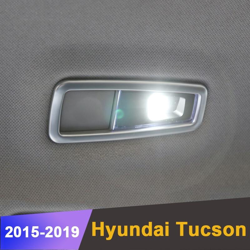 Para Hyundai Tucson 2015 2016 2017 2018 2019 luz de lectura trasera círculo cubierta luces de lectura marco adhesivo Accesorios