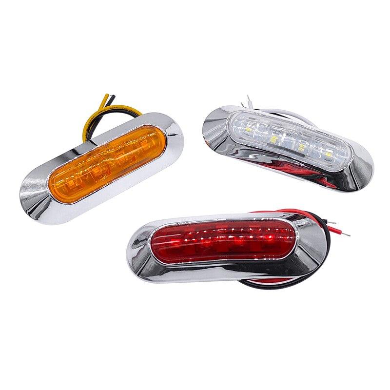 Luzes de trabalho do carro à prova dwaterproof água led lado marcador luz 10-30 v luz indicadora caminhão van lâmpada led amarelo vermelho branco lâmpada de afastamento