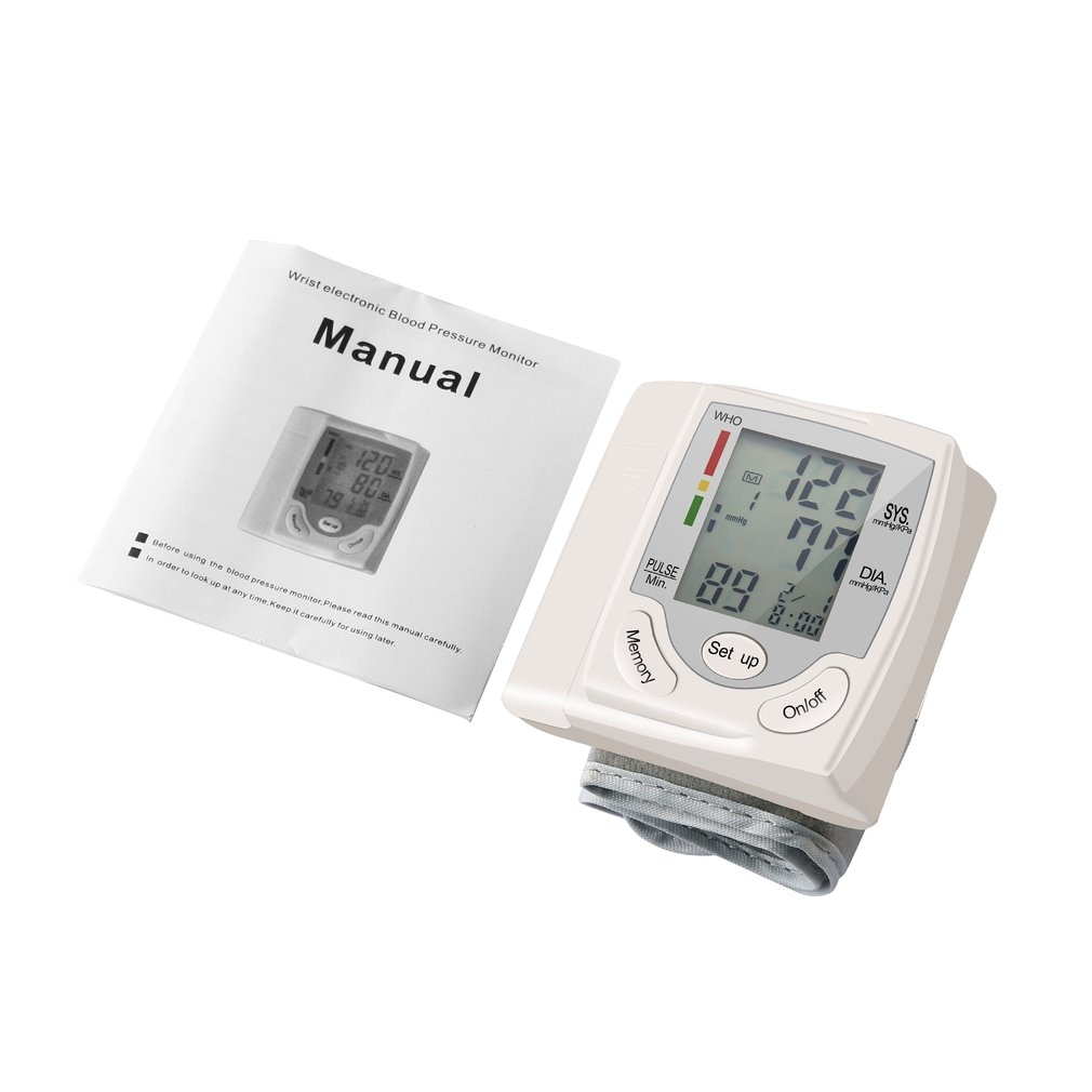 Household Automatic Wrist Blood Pressure Monitor Health Care Digital LCD Heart Beat Rate Pulse Meter Measure