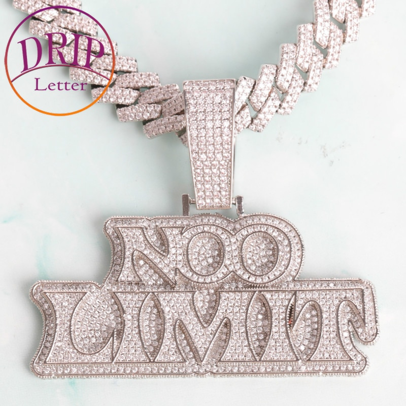 Custom Name Pendant for Men White Gold Plated Hip Hop Jewelry