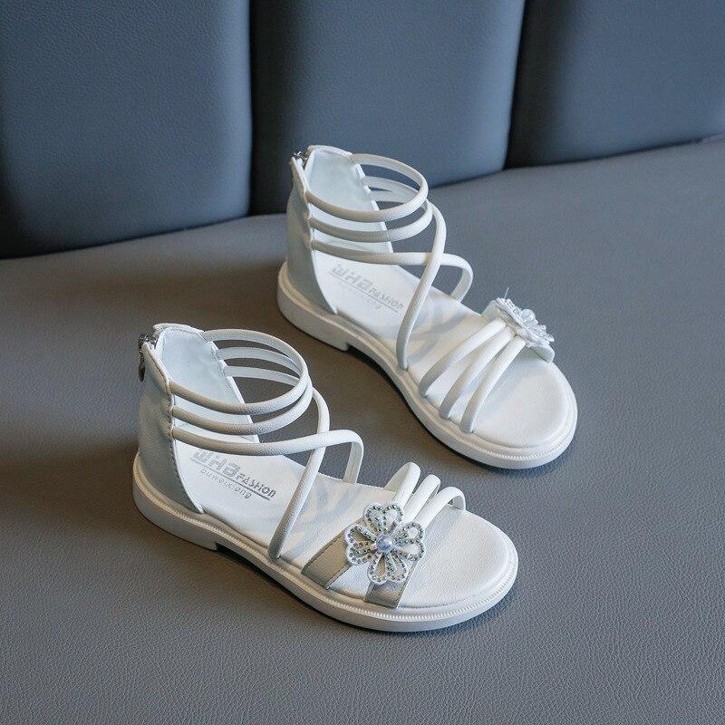 2020 Flower Kids Sandals For Girl Leather Beach Sandals Children Summer Shoe Princess Sandals 2 3 4 5 6 7 8 9 10 11 12 Year Old
