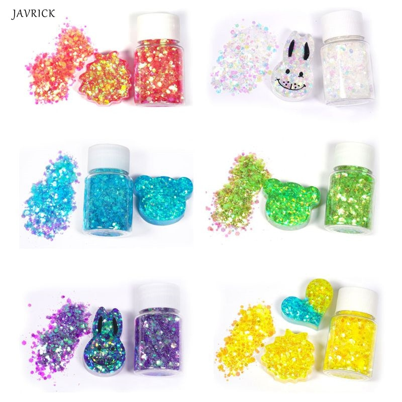 Lentejuelas brillantes variadas DIY, moldes de resina de cristal para repostería, accesorios para fabricación de joyas