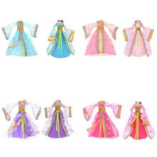 Kids Toys Gift 1PCS 4 Colors Party Dress Handmade Clothes Outfit For  Doll Ancient Play House Dressi