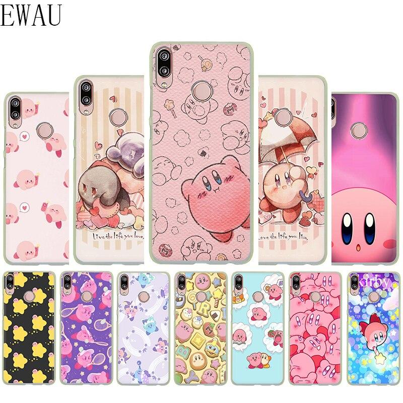 EWAU me encanta Kirby de silicona suave Mattle funda del teléfono para Huawei P8 P9 P10 P20 P30 Lite mío Pro P Smart Z Plus