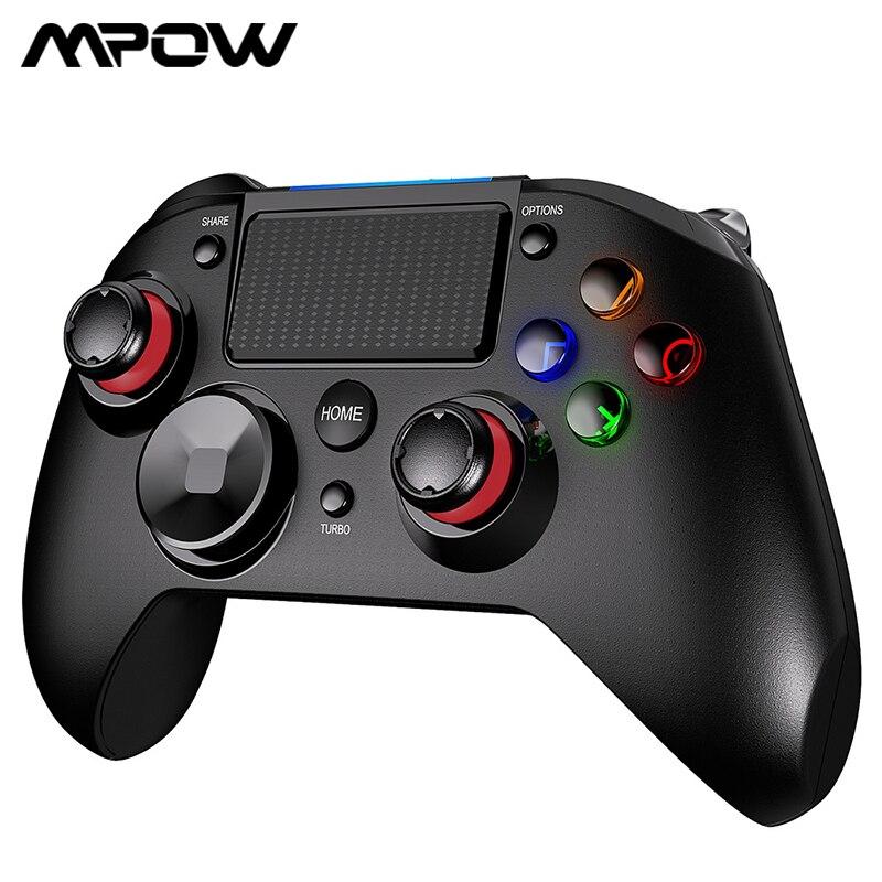 Mpow PC263 أداة تحكم في الألعاب لاسلكية ل PS4 PS5 ترقية عصا التحكم غمبد متعددة الزناد الاهتزاز للهاتف المحمول الكمبيوتر ويندوز