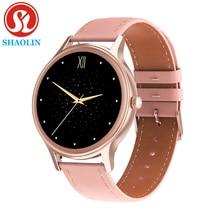 Fashion Women Smart Watch 1.09 inch Round Screen Bluetooth Watches Waterproof Long Standby Menstrual