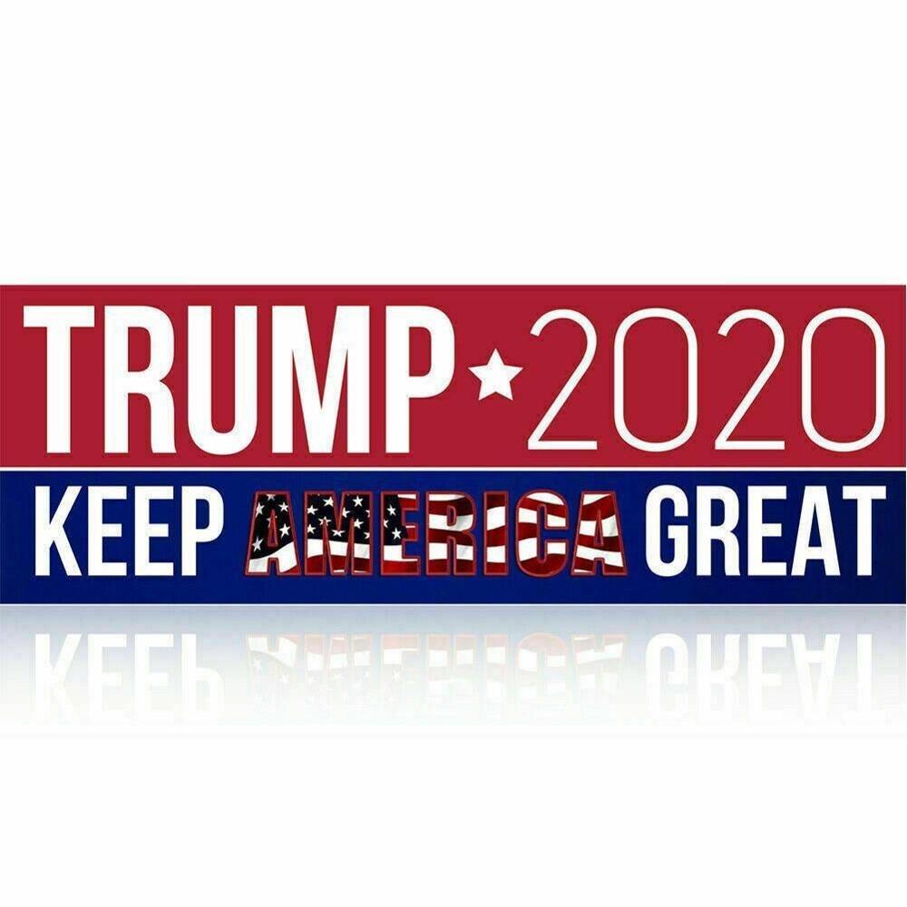10 Uds pegatinas de coche Donald Trump para el presidente 2020 parachoques sigue haciendo América grandes calcomanías Auto motocicleta pegatinas de diseño