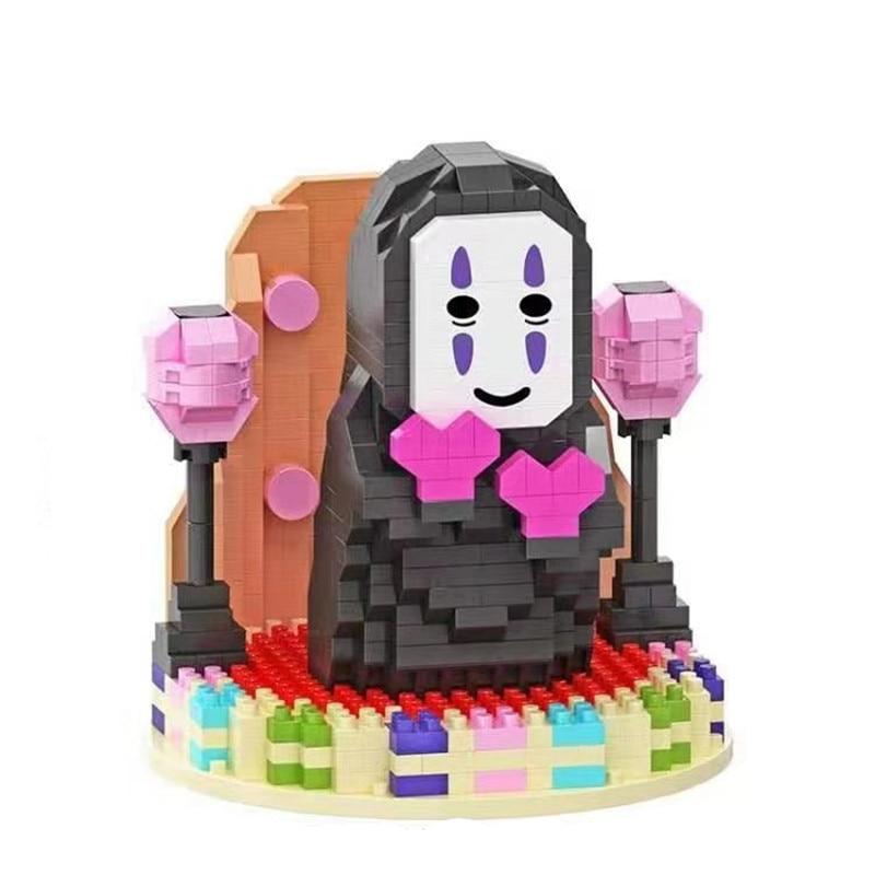 DIY HC bloques mágicos de dibujos animados Mini ladrillos animememodel japonés Juguetes de construcción No face man Juguetes de niños Juguetes de Navidad niñas regalos 6046