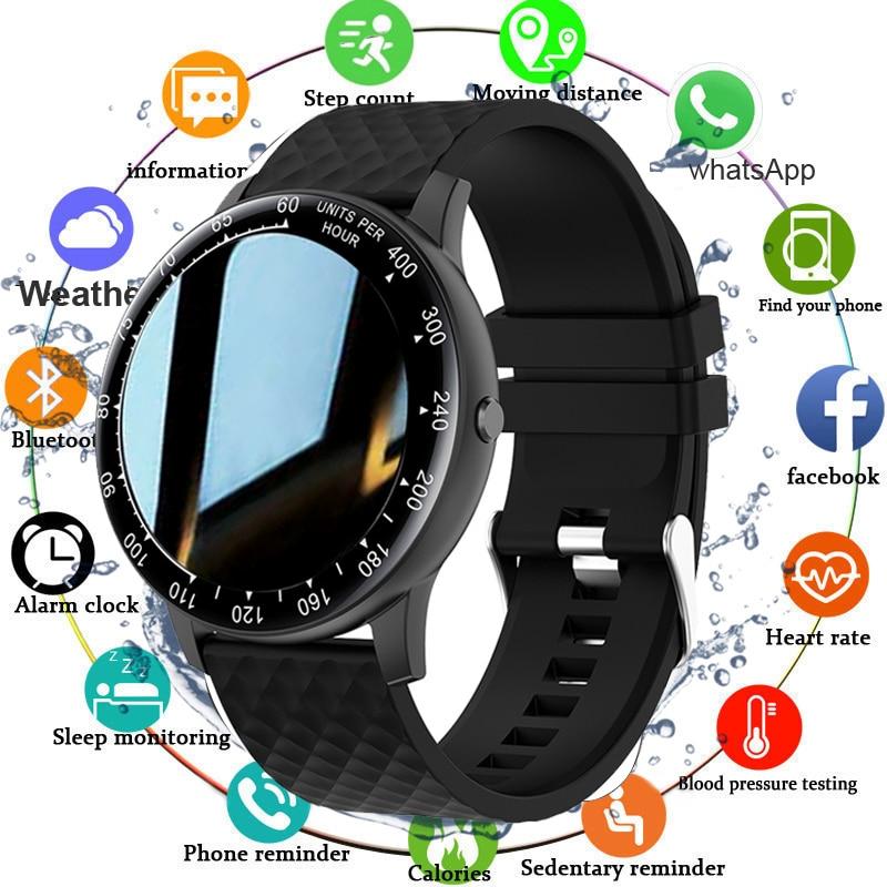 2021 Smart Watch Men Blood Pressure/Hear Rate Monitor Fitness Tracker Clock IP68 Waterproof Smartwat