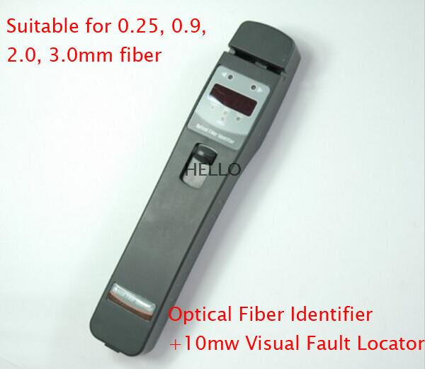 Identificador de fibra óptica Tribrer AIF420L con localizador Visual de fallas de 10mw