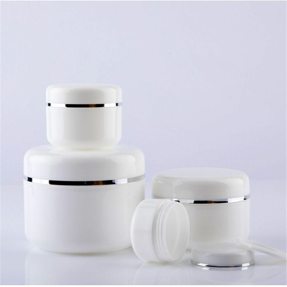 Branco 20/30/50/100/150/250/g garrafas recarregáveis viagem loção creme facial recipiente cosmético plástico vazio pote de frasco de maquiagem