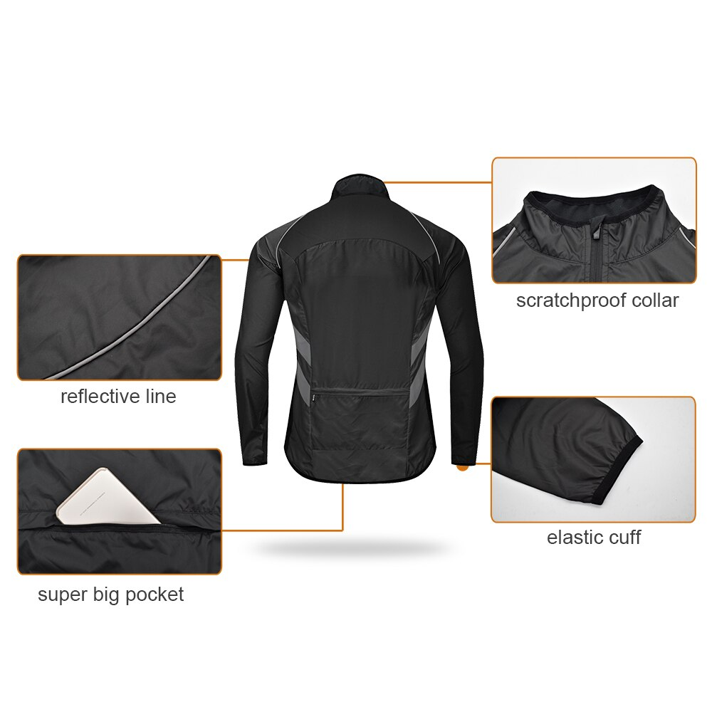 WOSAWE Reflective Motorcycle Jackets Motocross Clothing Motorbike Riding Breathable Racing Windbreaker Road MTB Coat 3 Colors enlarge