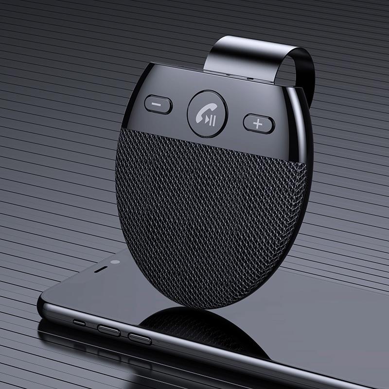 Wireless Vehicle Car Bluetooth V5.0 Speakers Handsfree Car Kit Hands-free Bluetooth Speakerphone Sun Visor Car Accessories