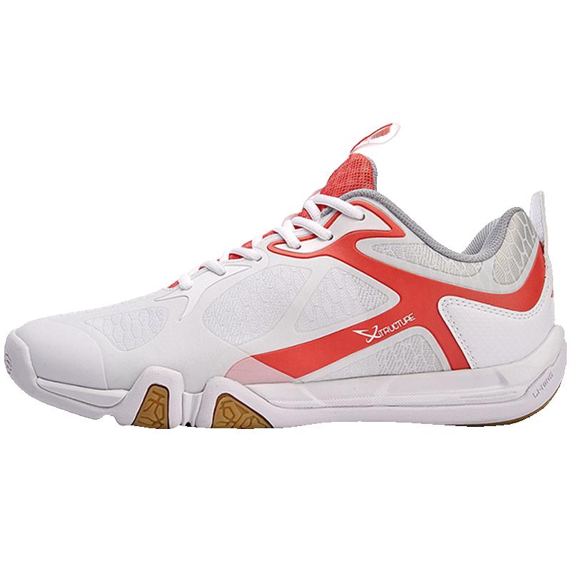Туфли Li-Ning мужские легсветильник для бадминтона, дышащие Нескользящие кроссовки, подкладка, удобная спортивная обувь для тренировок, AYTM031-4