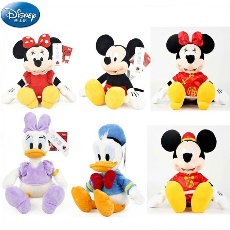 High quality Genuine Disney Winnie Bear Mickey Mouse Minnie Plush Toy Doll 30cm Children toy Birthday Christmas Gift 2019 New