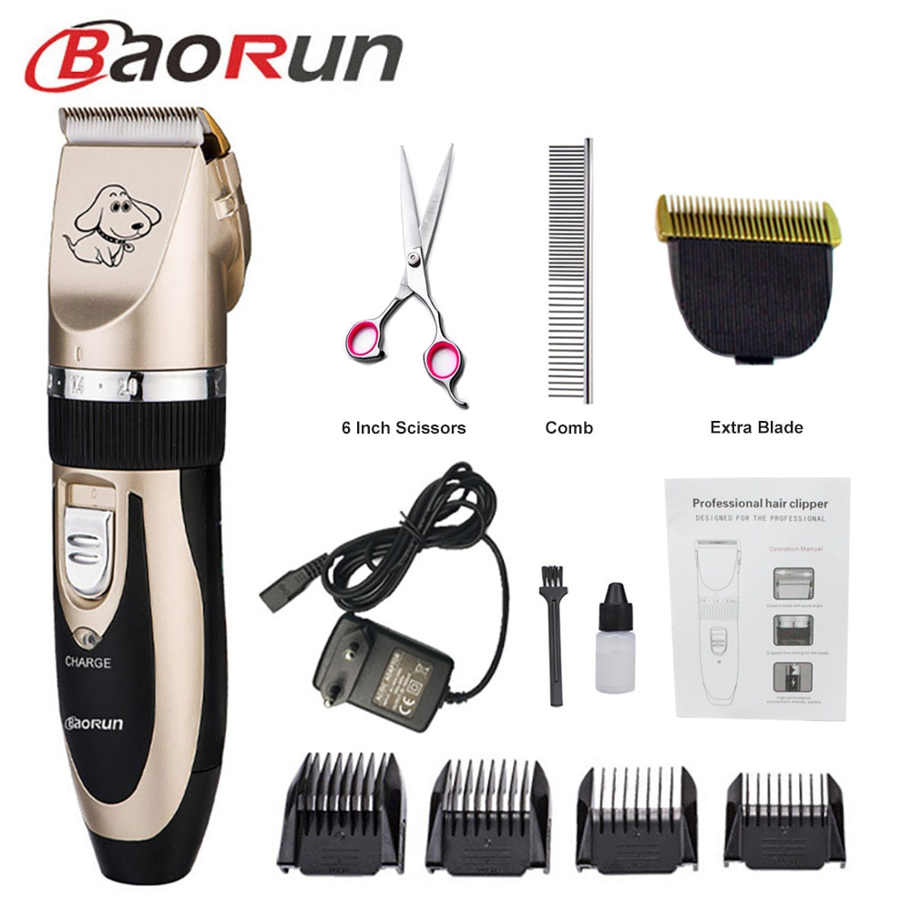 Baorun Professional Pet Dog Hair Trimmer Animal Grooming Clippers Cat Cutter Machine Shaver Electric