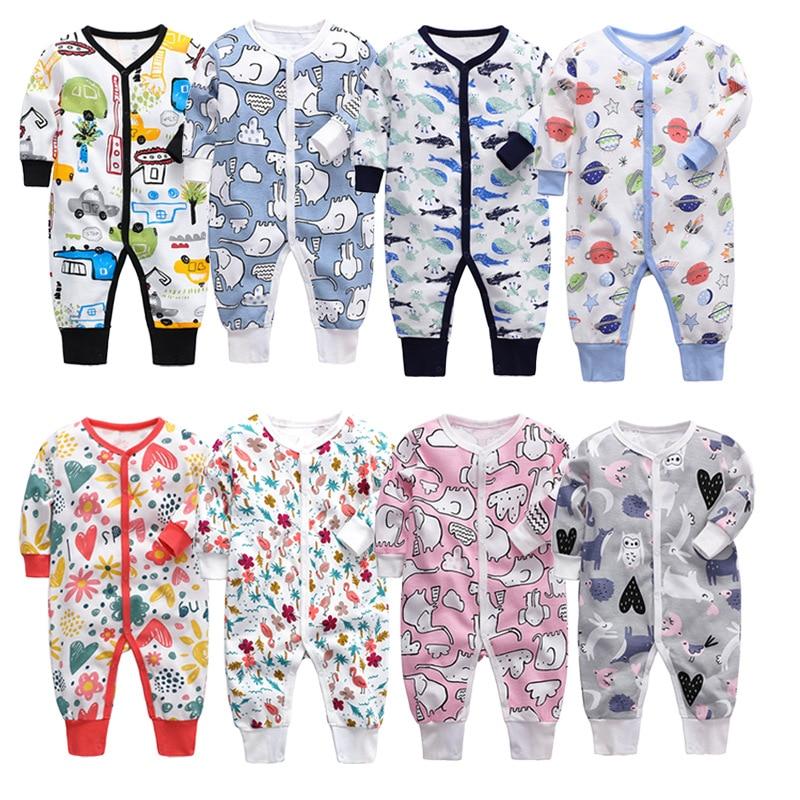 Mamelucos de bebé de Otoño de algodón ropa de bebé recién nacido para niñas niños de manga larga ropa de bebé ropa de niño niños trajes