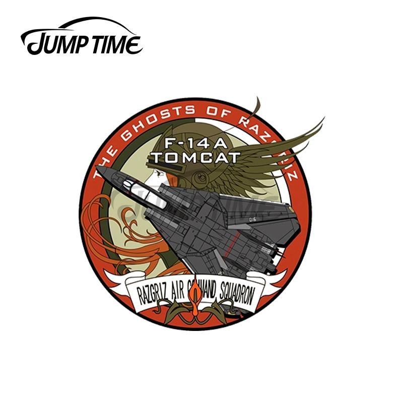 JumpTime-F-14A de combate Ace de 13x13cm, pegatinas de vinilo impermeables a prueba...