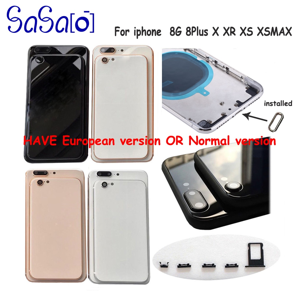 Alta qualidade para o iphone 8 8g plus 11 pro max volta habitação capa de vidro da bateria porta traseira chassi quadro para o iphone x xr xs max