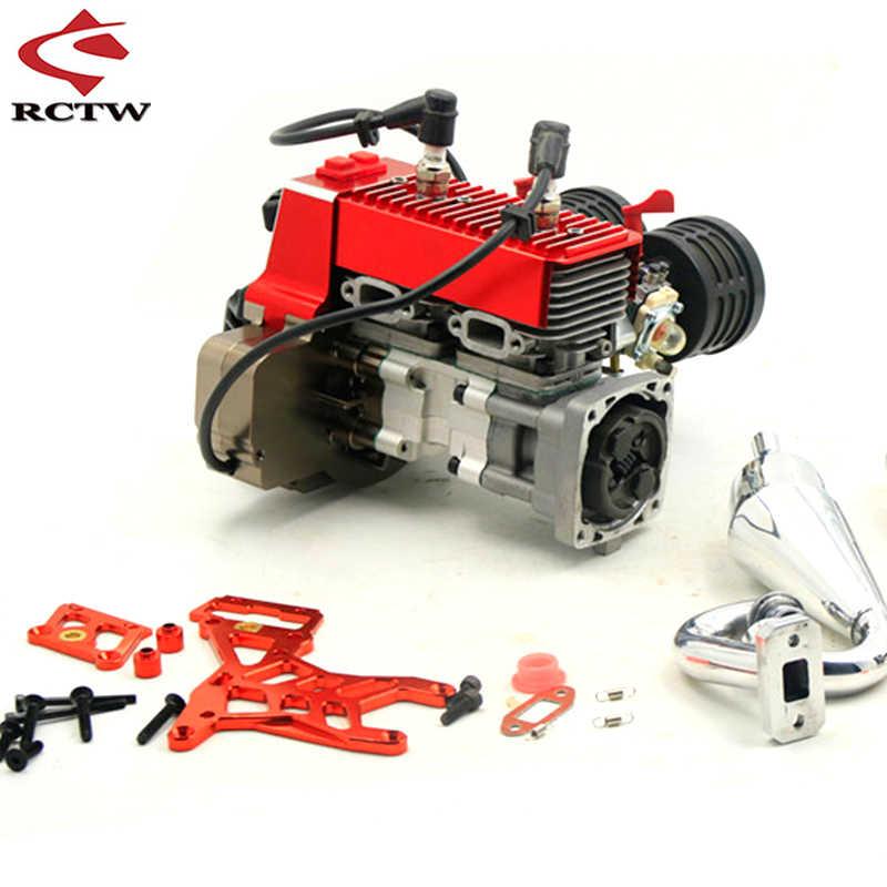 45cc 4 Bolts Motor Gasoline Engine Fit For 1 5 Hpi Rovan Rofun Km Baja Losi 5ive T Fg Engine Parts Parts Accessories Aliexpress