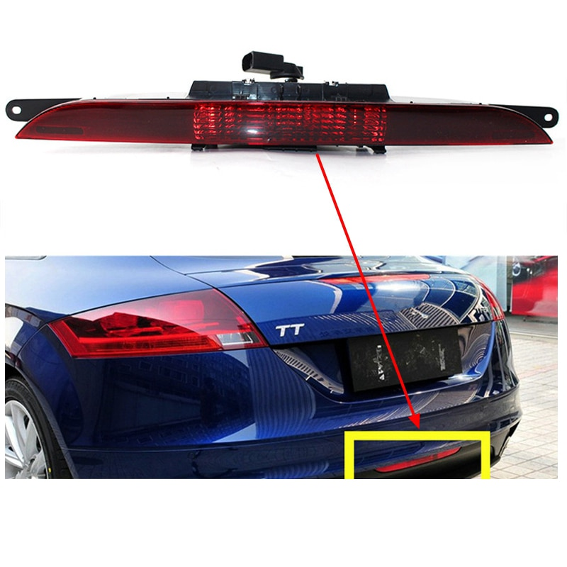 ABS سيارة عالية موقف الفرامل مصباح ليد الزخرفة الخارجية للسيارة تعديل المصد الخلفي ضوء مناسبة Models TT 2008-2013