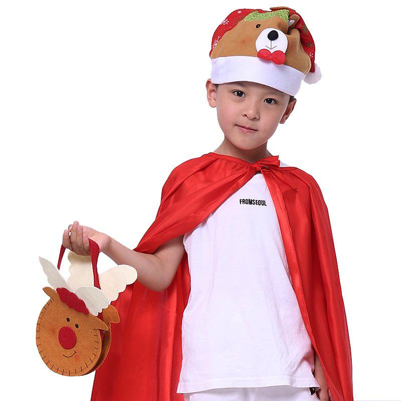 Caramelo de la Navidad bolsa bolso para los niños regalo de Año Nuevo Santa Claus contenedor para la víspera de Navidad Festival decoración de la fiesta